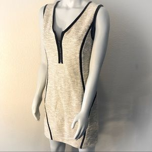 DKNY Sleeveless Tweed Mini Dress